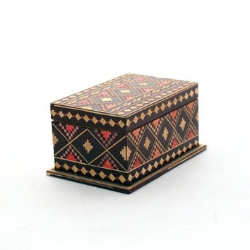 Jewelry Box, Treasury box, Wooden jewelry box 70s, Handmade box, Wood Jewelry Box, Folk Style, Folk Art, Unique Ornament, Trinket box