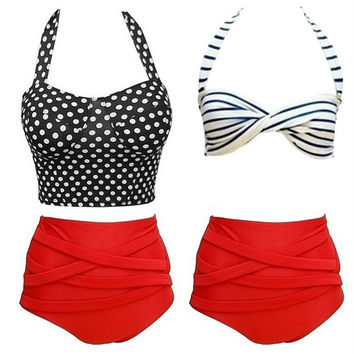 Summer Swimsuit New Arrival Sexy Beach Hot Swimwear Pants High Waist Ladies Bikini [9891808394]