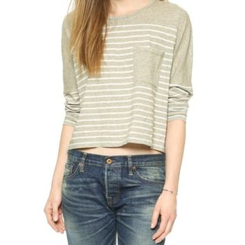 Madewell Striped Joyce Boxy Pocket Tee