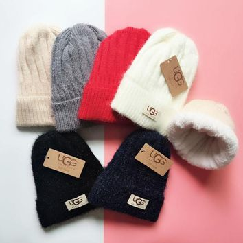 UGG Knit And Pom Hat Cap-7