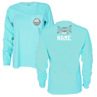 Volleyball Long Sleeve Pocket T-Shirt with Name