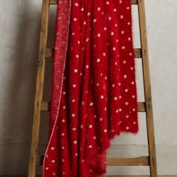 Cozy Dot Throw by Anthropologie in Wine Size: One Size Throws