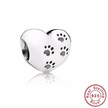 Original 925 Sterling Silver My Sweet Pet Paw Print Pandora Charm
