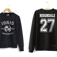 Herondale 27 Idris University Crew neck Sweatshirt