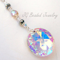 Prism Crystal Rearview Mirror Car Charm Decoration