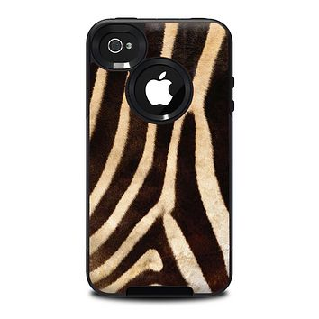 The Real Zebra Print Texture Skin for the iPhone 4-4s OtterBox Commuter Case