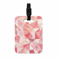 "Nic Squirrell ""Crumpled"" Pink,Geometric Decorative Luggage Tag"