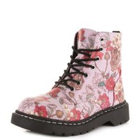 TUK Shoes | Pink Skulls & Roses Boots - Buy Online Australia Tragic Beautiful