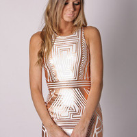 Esther Boutique - desert song cocktail- metallic gold