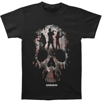 Walking Dead Men's  Heroes Skull T-shirt Black