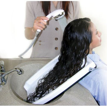 HAIR WASHING TRAY (FOR HOME OR SALON - USE WITH CHAIR OR WHEEL CHAIR!)