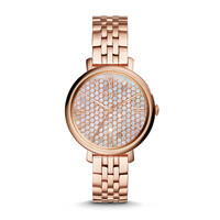 Jacqueline Rose-Tone Stainless Steel Watch | Fossil