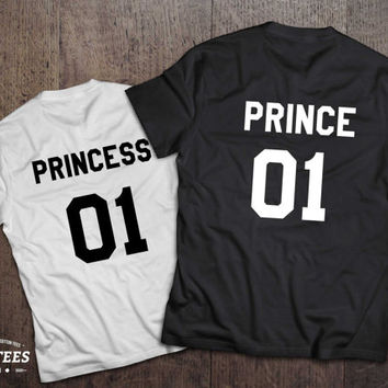 Prince princess 01 Couples T-shirt Set, Prince princess shirts, 01 Couples Shirt Set, 100% cotton Tee, UNISEX