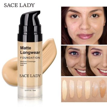 Professional Face Matte Finish Liquid Make Up Concealer Foundation