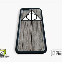 Black Wood Deathly Hallow iPhone Case 4, 4s, 5, 5s, 5c, 6 and 6 plus by Avallen