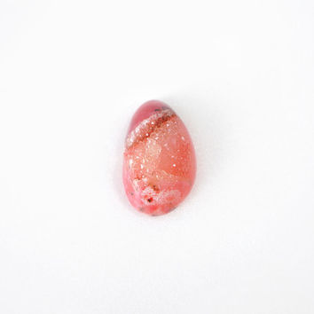 Raspberry Pink Druzy Gemstone Crystal, Juicy Pink Stone 22x36mm, One-Of-A-Kind Drusy Jewelry