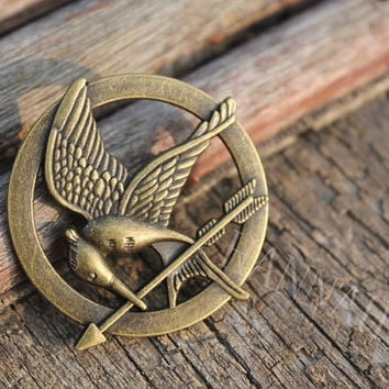 katniss Broochbrass The Hunger Games Inspired by hannahome on Etsy