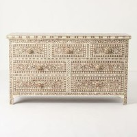 Ivory Inlay Seven-Drawer Dresser by Anthropologie