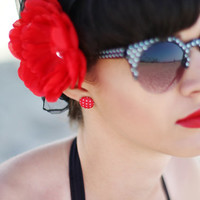 One Peony Flower Hair Clip - Your Choice of Color, Peony Hair Clip, Pin Up Hair Accessory, Rockabilly Hair Flower, Large Hair Flower