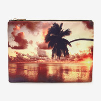 Sunset Palm Tree Clutch
