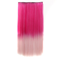 Hot Sale On Sale Sexy Beauty Hot Deal Wigs Double Color Gradient Rose Red Vanilla Straight Hair Hair Extensions [4923177412]
