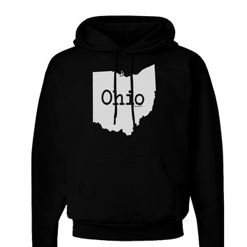 Ohio - United States Shape Dark Hoodie Sweatshirt by TooLoud