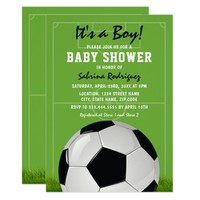 Soccer Baby Shower | It's a Boy Card