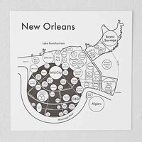 Archie's Press New Orleans Map - Brown One
