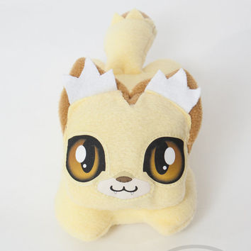 Fennec Fox- Lemon Squeezies, adorable, cute, plush, lemon, mini, pillow