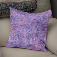 «Purple and faux silver swirls doodles», Numbered Edition Coussin by Savousepate - From 25€ - Curioos