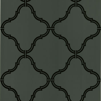 Sample of Estate Moroccan Grate Wallpaper in Brown by Brewster Home Fashions