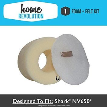 Home Revolution Replacement Foam & Felt Filter Kit, Fits Shark Rotator NV650, NV650W, NV651, NV652, NV752 Vacuums & Part XFF650