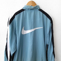 ON SALE Vintage 90's NIKE Swoosh Big Logo Air Jordan Michael Jordan Basketball Nba Sweater Zipper Jacket