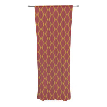 "Nandita Singh ""Marsala & Mustard"" Red Pattern Decorative Sheer Curtain"