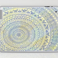 Mandala Doodle Laptop & iPad Skin by Haleyivers | Society6