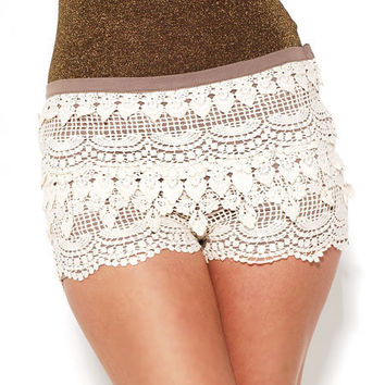 Lace Tier Hot Pants by AKIRA