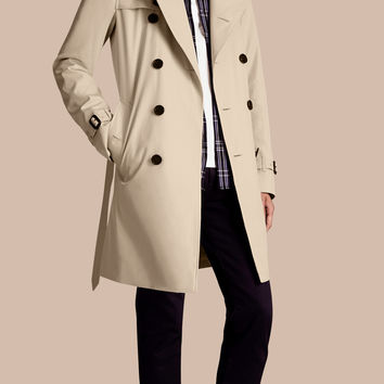 The Kensington – Long Heritage Trench Coat Stone | Burberry