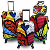 Heys USA Luggage Britto New Day Hard Side 4 Piece Luggage Set