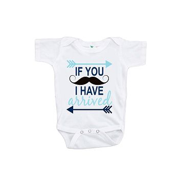 Custom Party Shop Baby Boy's I Have Arrived Mustache Onepiece