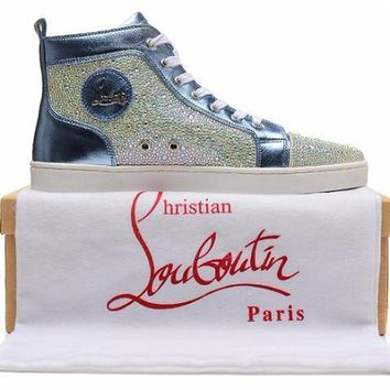 cc DCCK Christian Louboutin Blue Sea Crystal