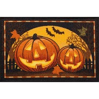 Halloween Pumpkins Rug - 20'' x 30'' (Orange)