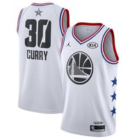 Men's Golden State Warriors Stephen Curry Jordan Brand White 2019 NBA All-Star Game Finished Swingman Jersey - Best Deal Online
