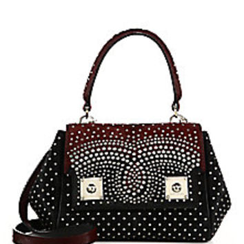 Marc Jacobs - Deja Vu Studded Two-Tone Calf Hair Satchel - Saks Fifth Avenue Mobile