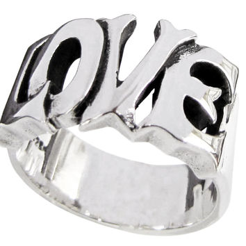 LOVE Ring Lettered Word in Sterling Silver 925