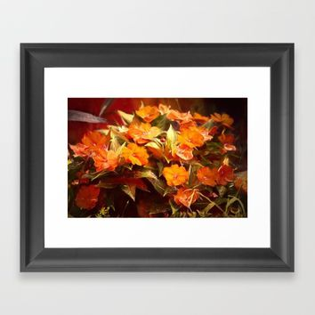 Fall Floral Framed Art Print by Theresa Campbell D'August Art