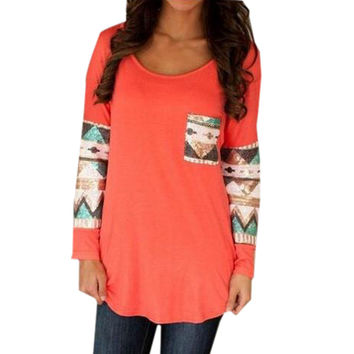 BOHO Design Long Sleeve Shirt