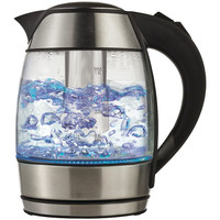 BRENTWOOD KT-1960BK Borosilicate Glass Tea Kettle with Tea Infuser