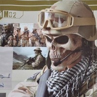 Coxeer M02 Face Mask Protect Army Skull Skeleton Warrior Armor Mask (M02)