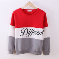 Letter Printed Women Pullover Tops Sweat Shirt Blouse Sweater Thick Tracksuits Sudaderas PY1