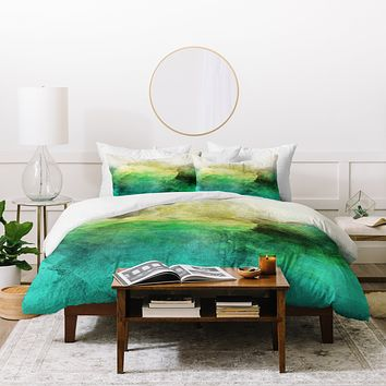Allyson Johnson Peacock Ombre Duvet Cover